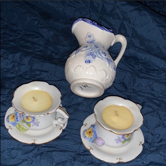 Other - 3pc ceramic candle set